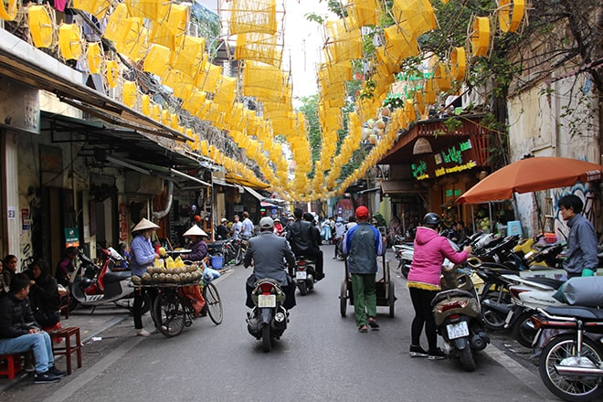 le quartier des 36 corporations à Hanoi