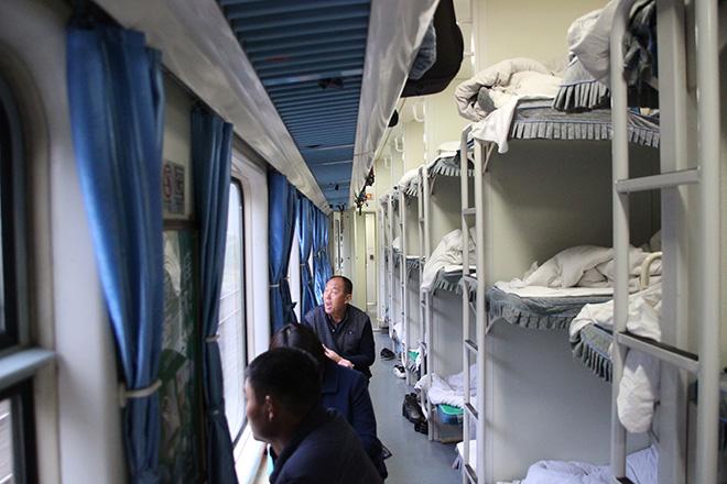 Hard sleeper/ couchette dure dans le train de nuit chinois