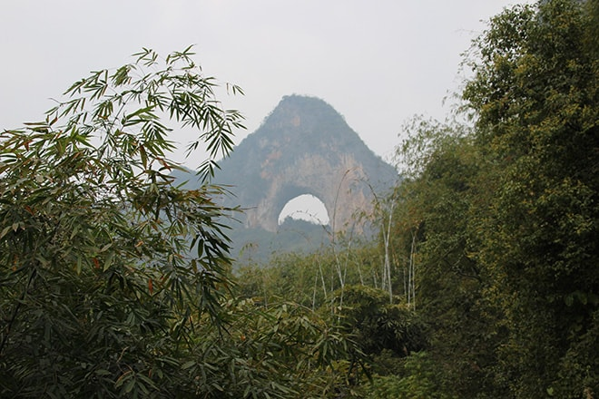 Moon hill près de Yangshuo
