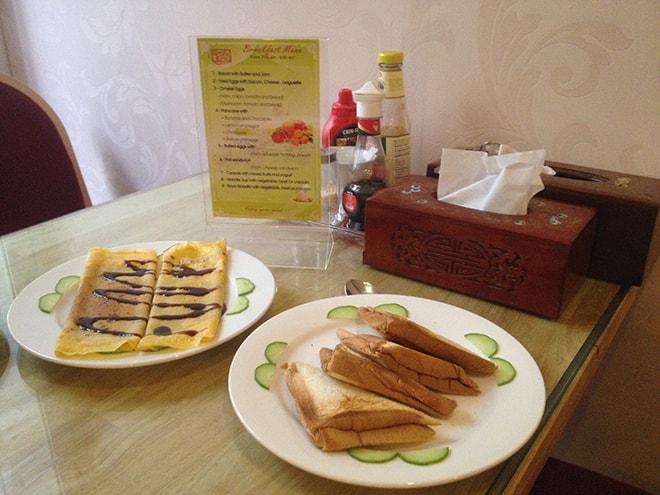 Petit-déjeuner au Ritz Boutique Hotel de Hanoi manger à Hanoi Où dormir à Hanoi