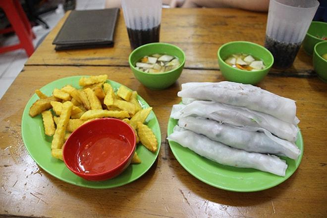 Phu Cuon et frites maison manger à Hanoi