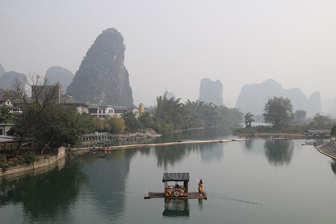 Rivière Jimbao à Yangshuo