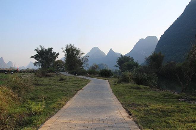 Promenade en vélo dans la campagne de Yangshuo
