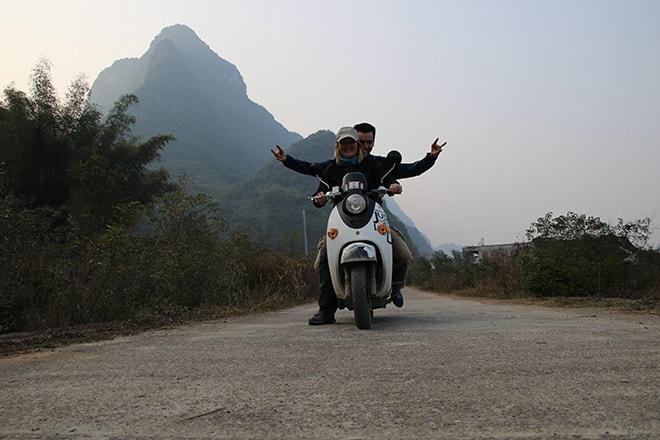 Promenade en scooter dans la campagne de Yangshuo