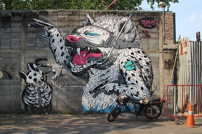 Bangkok Street Art animal