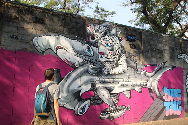 Bangkok Street Art tigre
