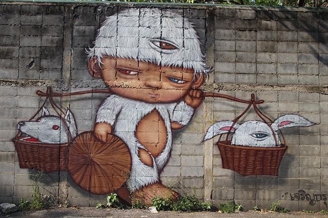 Bonhomme Bangkok Street Art