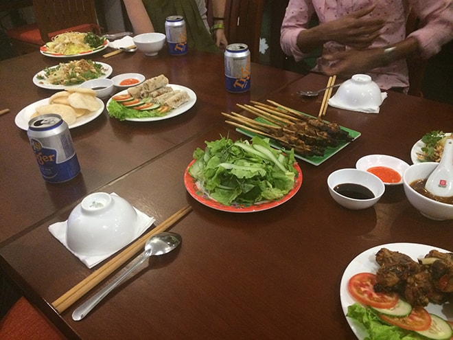 Repas nouvel An Hoi An VIetnam