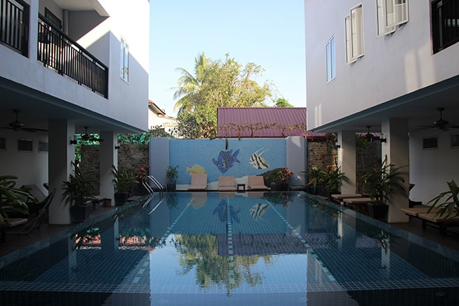 Sokhdom Residence Siem Reap Cambodge piscine