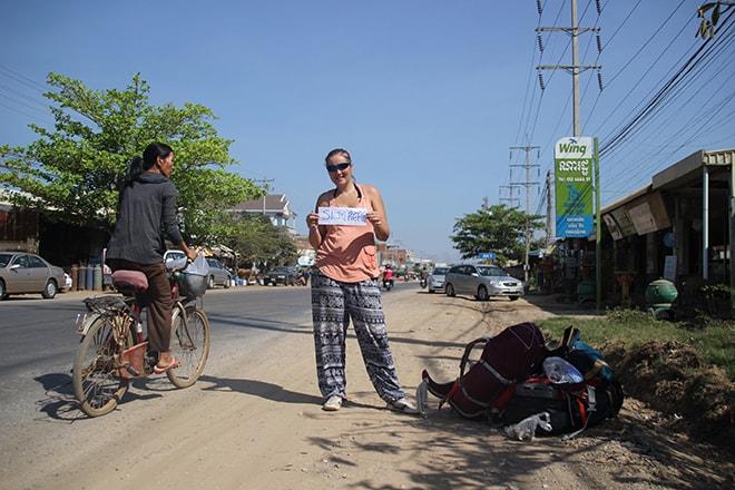 Stop Battambang Siem Reap Cambodge