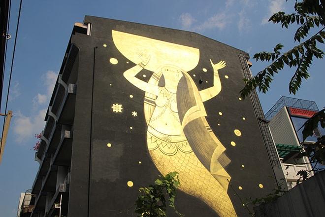 Street Art Bangkok Fikos Wall