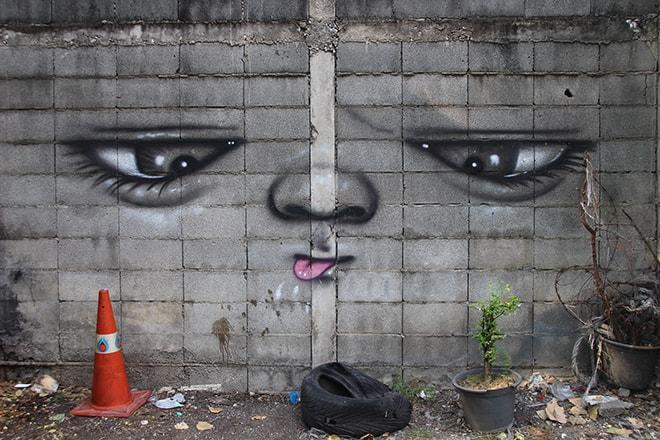 visage Street Art Bangkok