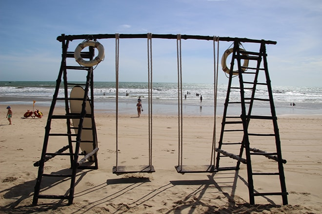 Balancoire plage Pandanus Resort Mui Ne Vietnam