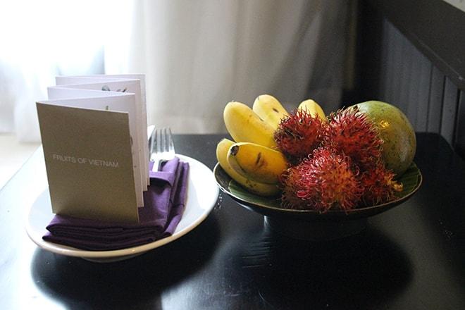 Mot accueil fruits Anantara Mui Ne Vietnam