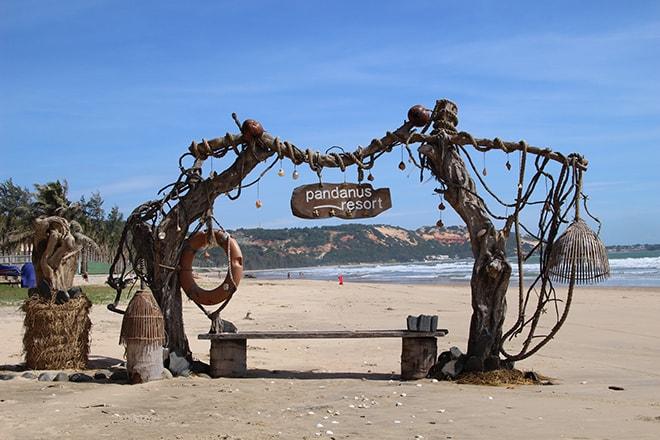 Pandanus Resort Mui Ne Vietnam plage