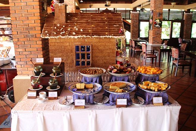 Petit déjeuner Pandanus Resort Mui Ne Vietnam