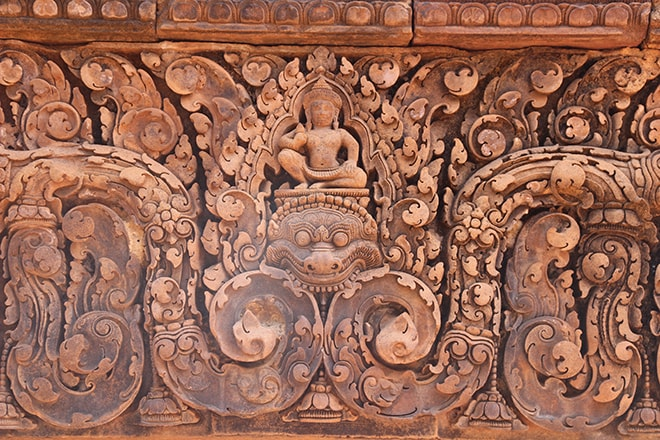 Banteay Srei un des temples d'Angkor