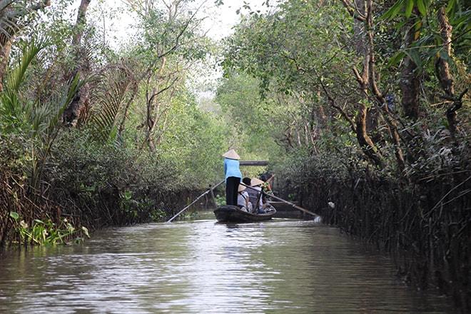Tour en barque sur le Mékong
