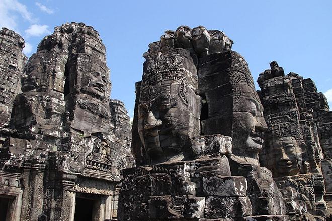 Bayon un des temples d'Angkor Thom