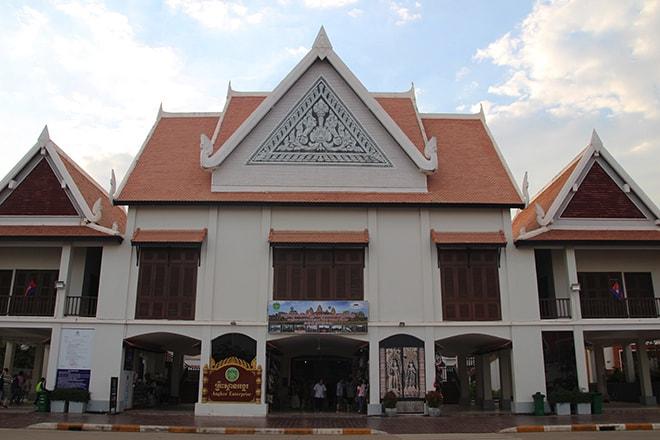 La billetterie des temples d'Angkor