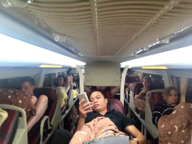 bus de nuit au Vietnam