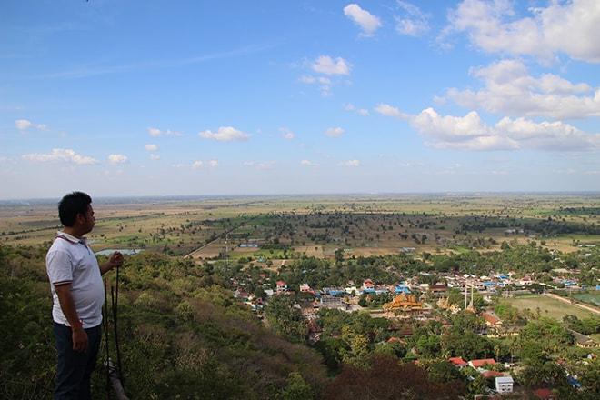 Vue sur la campagne de Battambang
