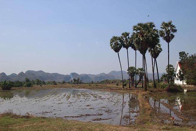 Campagne de Kanchanaburi à découvrir à vélo
