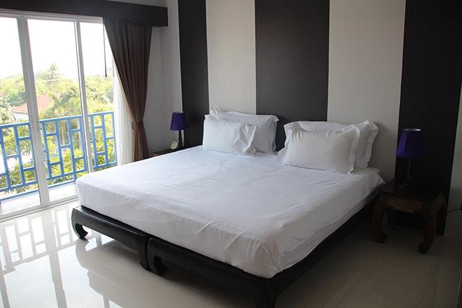 Notre chambre à l'hôtel The Bridge Residence à Kanchanaburi