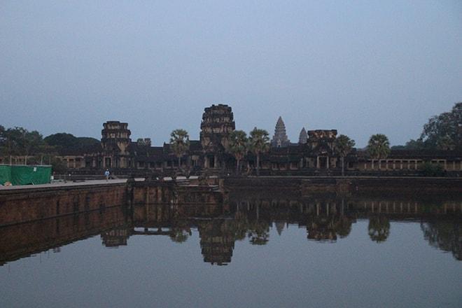 Fin de journée sur Angkor Vat