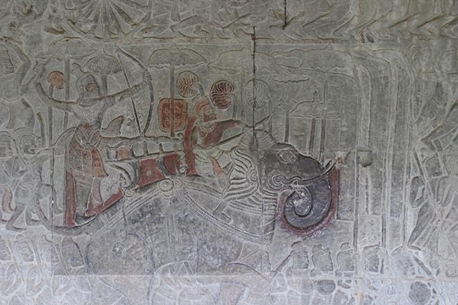 Fresques dans Angkor Vat
