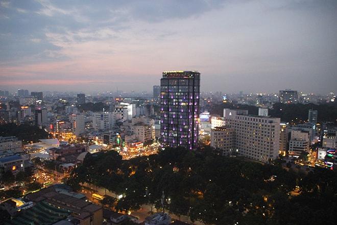 Coucher de soleil sur Ho Chi Minh