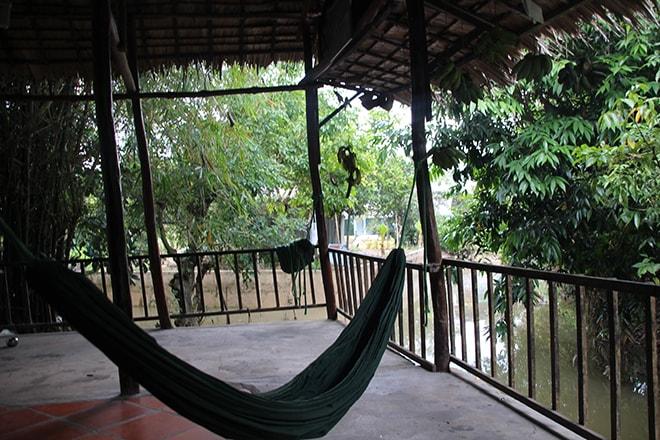 Sympa le hamac pour faire une sieste au bord du Mékong