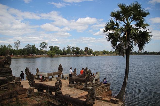 Le lac Sras Srang dans la Cité d'Angkor