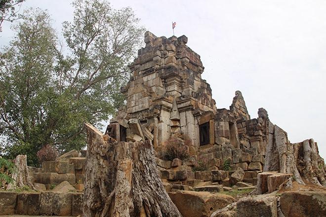 Les ruines du Wat Ek Phnom à Battambang