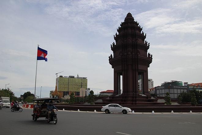 la place de l'Indépendance à Phnom Penh