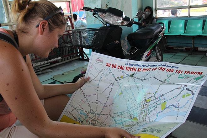 L'immense plan des bus d' Ho Chi Minh