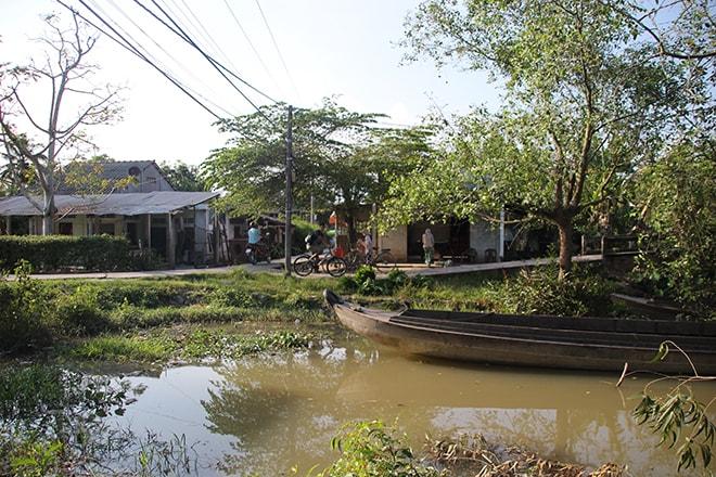 Promenade à vélo sur l'île d'An Binh dans le Mékong