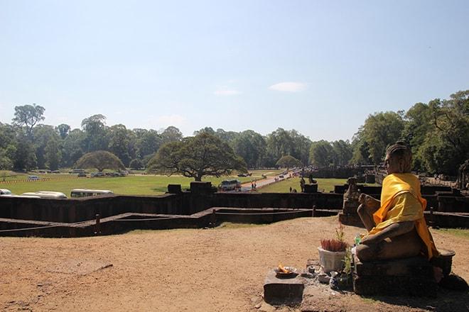 La Terrasse des éléphants dans Angkor Thom