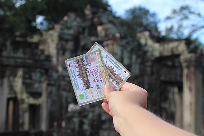 Tickets d'entrée dans les temples d'Angkor