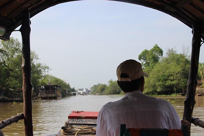 Tour en bateau sur le Mékong