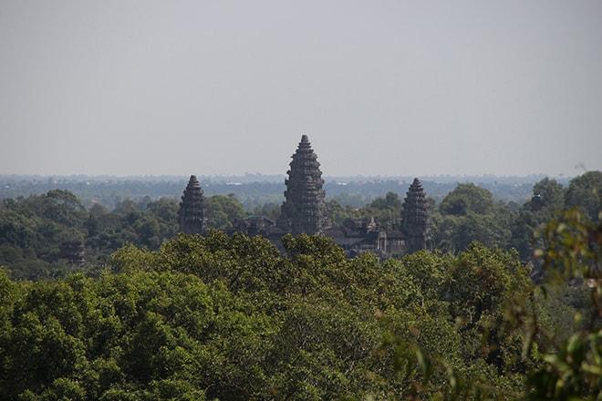 Vue sur Angkor Vat depuis Phnom Bakheng