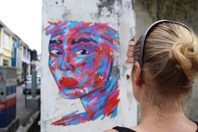 Elo Visage Street Art Penang Malaisie