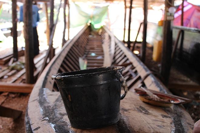 Fabrique de bateau lac Inle Birmanie