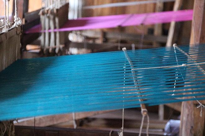 Fabrique de soie lac Inle Birmanie