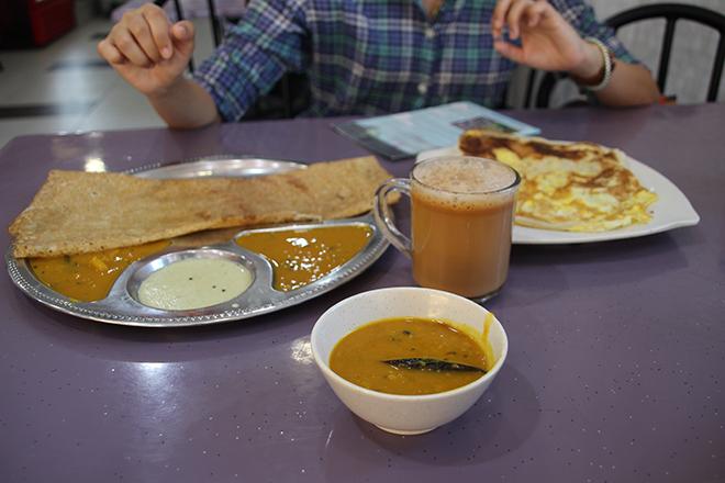 Foodtour Penang petit dejeuner indien