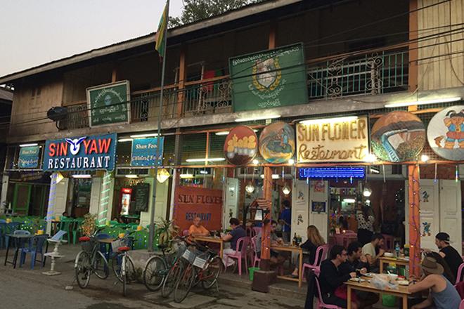 Restaurant centre ville lac Inle Birmanie