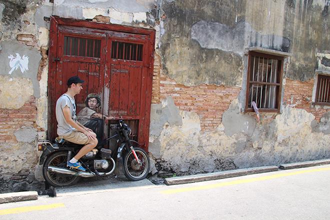 georgetown  u00e0 penang  street-art et gastronomie