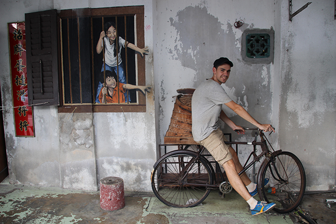 Tom vélo 3D Street Art Penang Malaisie