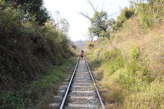 Paysage trek kalaw inle birmanie