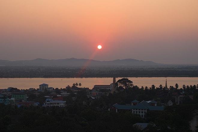 Coucher de soleil sur Mawlamyine